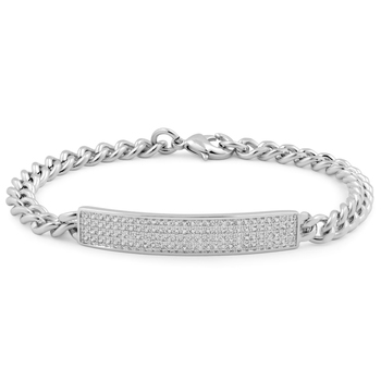 2.40ctw White Sapphire Bracelet