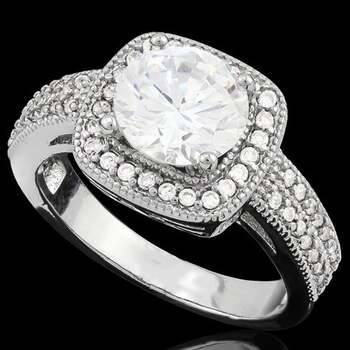 2.40ctw White Sapphire Ring Size 8