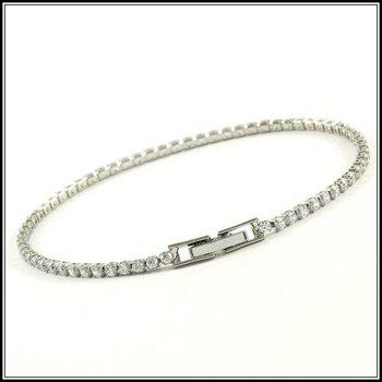 2.50ctw AAA+ Grade White Cubic Zirconia  Fine Jewelry Brass with 3x Gold Overlay Bracelet