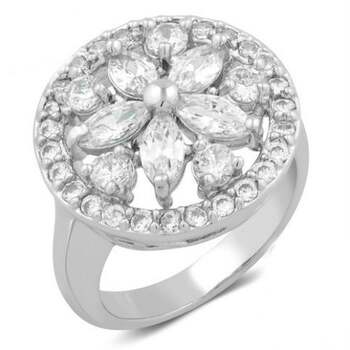 2.50ctw White Sapphire Cocktail Ring Size 6