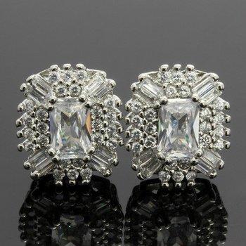 2.50ctw  White Topaz Earrings