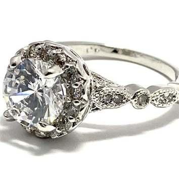 2.60ctw White Topaz Ring Size 7