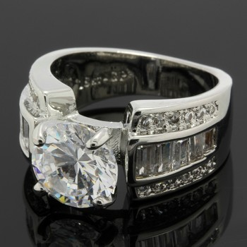 2.63ctw White Sapphire Ring Size 6.5