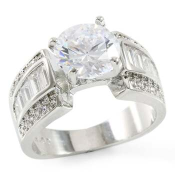 2.63ctw White Sapphire Ring Size 7