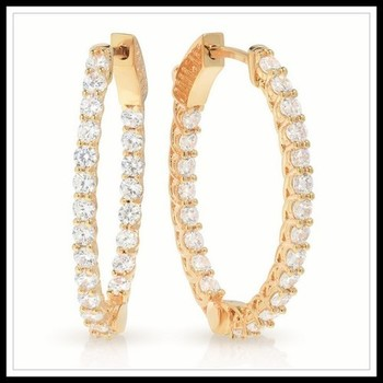 2.64ctw White Sapphire Earrings