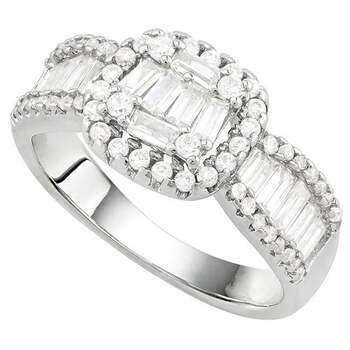 2.92ctw White Sapphire Ring Size 7