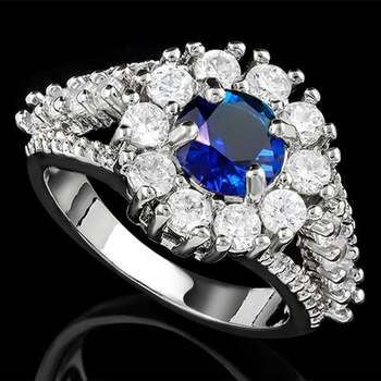2.9ctw Sapphire Ring Size 8