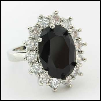 3.00ctw Beautifully Created Blue and White Sapphire Ring Size 7