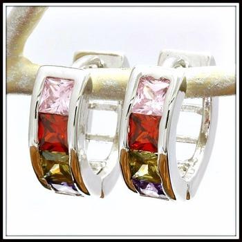 3.00ctw Multicolor-Stone Earrings