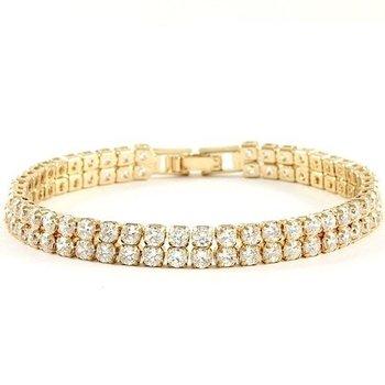 3.00ctw White Sapphire Round Cut Tennis Bracelet