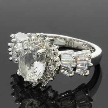 3.05ctw White Sapphire Ring Size 7