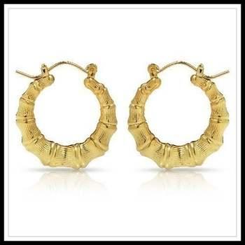 30mm Bamboo Hoop Earrings