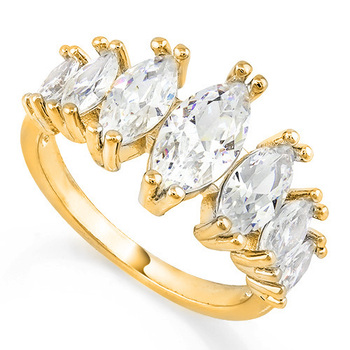 3.25ctw White Sapphire Ring Size 7