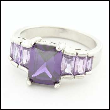 3.30ctw Amethyst Ring Size 8