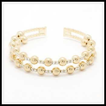 3.44ctw White Sapphire Bead Bracelet