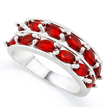 3.75ctw Garnet Ring Size 7