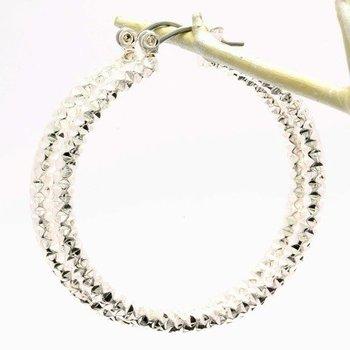 40mm Fine Jewelry Brass with 3x Gold Overlay Hoop Earrings