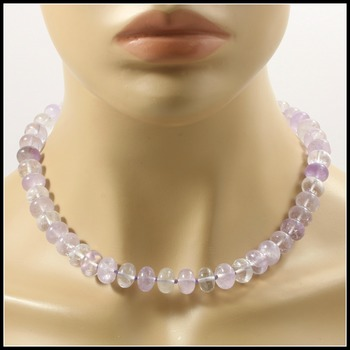 414.1ctw Genuine Madagascar Amethyst Necklace Featuring 925 Sterling Silver Flower Design Clasp Closure