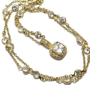 "4.15ctw White Diamonique ""Diamonds by the Yard"" Design Necklace"