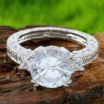 4.20ctw White Topaz Engagement Ring size 7