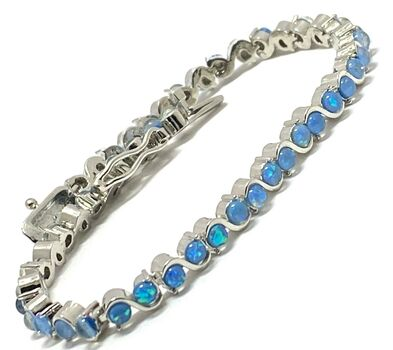 4.25ct Opal Tennis Bracelet