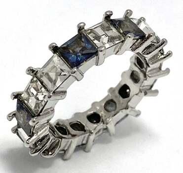 4.25ctw Blue Mystic Topaz & White Sapphire Ring