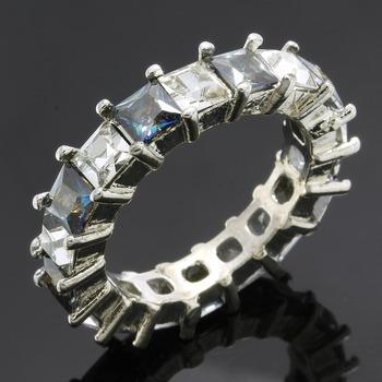 4.25ctw Blue Mystic Topaz & White Sapphire Ring size 7