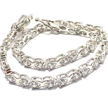 """4.25ctw Diamonique Tennis Bracelet Platinum & 925 Sterling Silver 7"""" Long"""