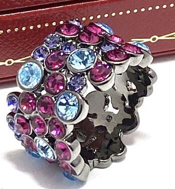 4.25ctw Multi-Color Stone Ring Size 7