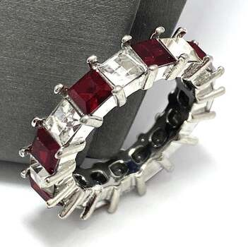 4.25ctw Ruby & White Sapphire Band Ring