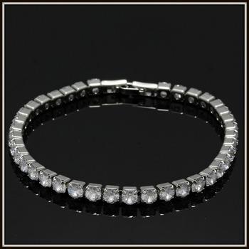 4.25ctw White Sapphire Bracelet