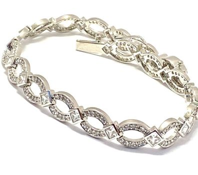 """4.45ctw Diamonique Tennis Bracelet Platinum & 925 Sterling Silver 7"""" Long"""