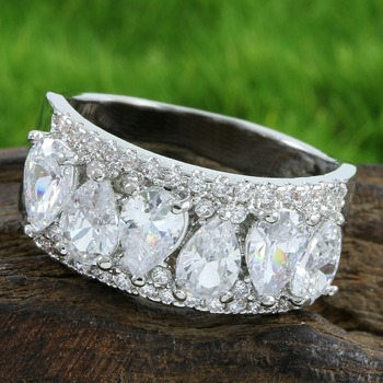 4.50ctw White Sapphire Ring Size 6
