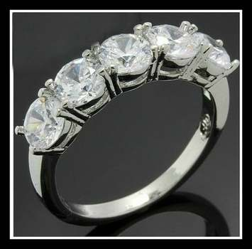 4.50ctw White Sapphire Ring Size 7
