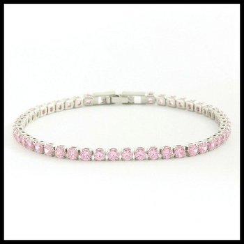 4.70ctw Pink Sapphire Tennis Bracelet