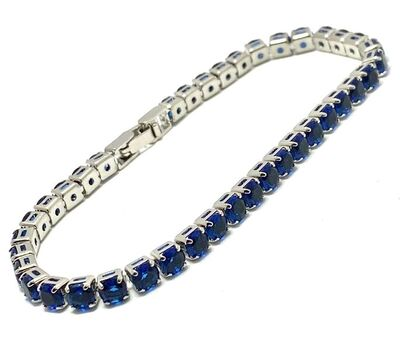 "5.00ct Sapphire 6.5"" Long Bracelet"