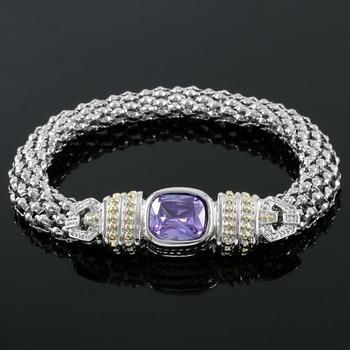 5.00ctw Amythest  Magnetic Bracelet