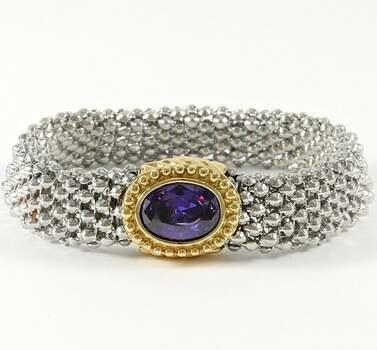 5.00ctw Beautifully Created Fine Amythest Magnetic Bracelet