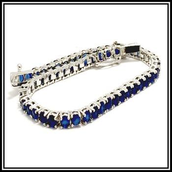 5.00ctw Genuine Sapphire Bracelet