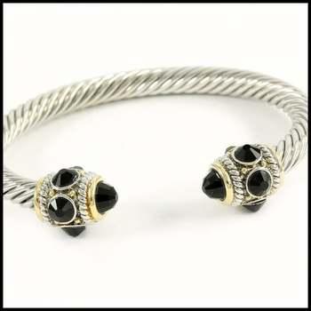 5.10ctw Black Onyx Bangle Bracelet