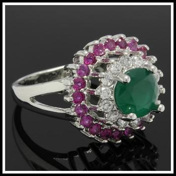 5.50ctw Multi-Color Topaz Ring sz 6