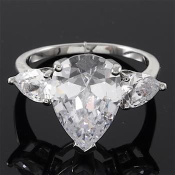5.75ctw White Sapphire Engagement Ring sz 7