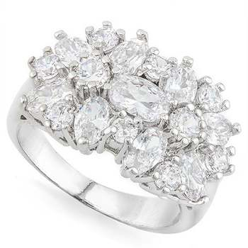 6.00ctw White Sapphire Ring Size 6