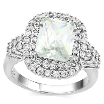 6.00ctw White Sapphire Ring Size 7