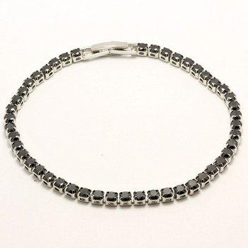 6.11ctw Black Topaz Tennis Bracelets