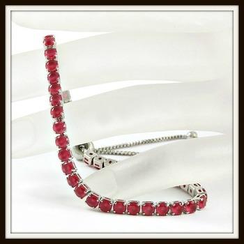 6.45ctw Ruby Adjustable Bracelet
