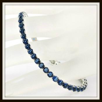 6.45ctw Sapphire Tennis Bracelet