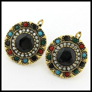 6.76ctw Multi-Color Gemstones Latch Back Earrings