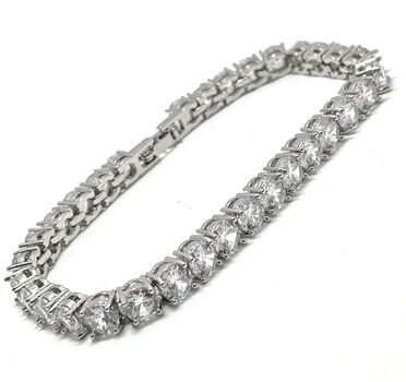 "7.50ct Diamonique 6.5"" Long Bracelet"