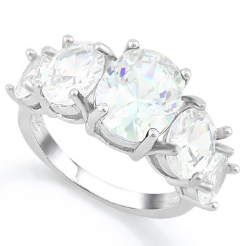 7.50ctw White Sapphire Ring Size 7